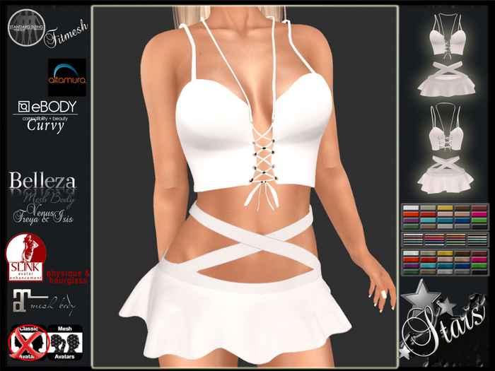 Stars - Maitreya top & skirt, Altamura, eBody, Physique, Hourglass, Belleza - Kerri