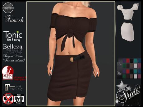 Stars - Maitreya top & skirt, Physique, Tonic, Hourglass, Belleza - Vic