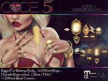 CODE-5 [ GOLDEN ROSE ] Rings Set  Maitreya V0.01