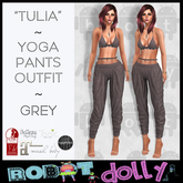 "RD - ""Tullia"" - Yoga Pants Outfit - Grey"
