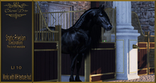 Cheval D'or - Static Friesian - Decoration.