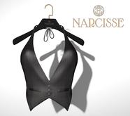 -Narcisse- ADD Riri Tuxedo Halter - Black