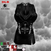 Harness dress black latex