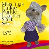 Miss Ing's Dinkie Purkle Leather Skirt Set