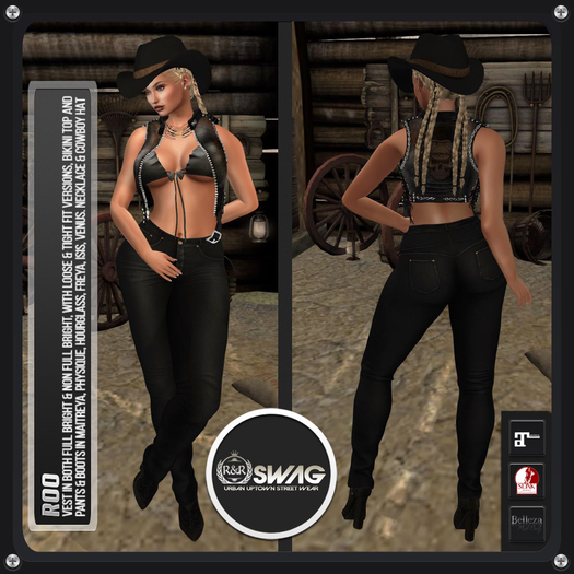 [RnR] Swag Roo Country Outfit & Western Outfit w/ Maitreya, All Belleza & All Slink Sizes! NEW RELEASE
