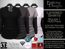 *ED Layered Shirts - Solids Set 1