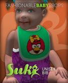 Suki. Bib. Girl Bird