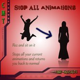 Stop all animations (FULL PERMS!) - Simply sit on it to stop animating yourself