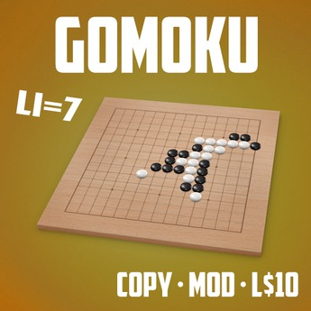 Play The Gomoku / Connect Five Game (LI=7)