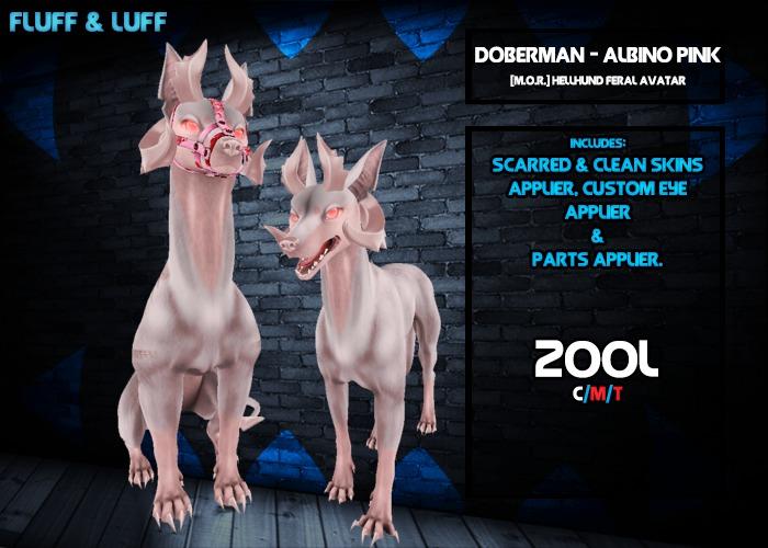 F&L - Doberman - [M.O.R.] Hellhund Mod  - Albino Pink