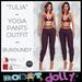 "RD - ""Tullia"" - Yoga Pants Outfit - Burgundy"