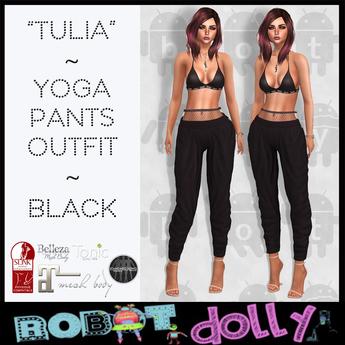 "RD - ""Tullia"" - Yoga Pants Outfit - Black"