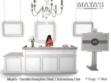 Maya's - Camille Reception Desk / Animations / Set [Desk,Hanging Frame,Chair,Standing Frame,Chandelier]