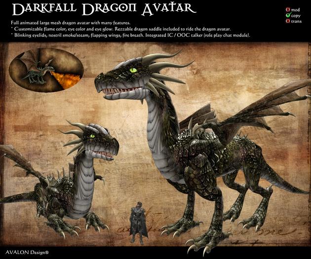 Avalon Dragon Avatar - Darkfall Dragon