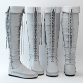 fame femme : Nicole Boots - White