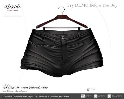 ~Nerido~ Passion Shorts (Maitreya)-Black
