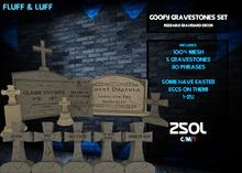 F&L - Goofy Gravestone Set