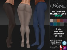 VANNIES UNISEX Soft Cotton Knitted Tights Fall Winter (applier for Belleza, Maitreya, Signature, Slink, Omega)