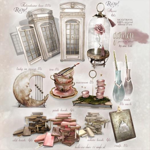 {anc} garden. telephonebox. (box) RARE