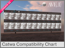 ♥ FEM / HOM chart for gender and age (Catwa Bento Heads)