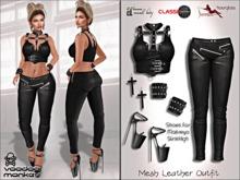 [VM] Mesh Leather Outfit for Maitreya, Slink, Hourglass, & Classic