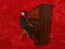 Piano mocap animation (incl. stool)