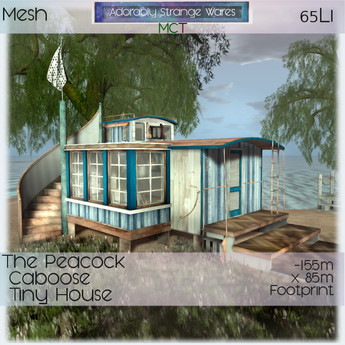 ~ASW~ The Peacock Caboose Tiny House