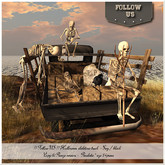 LIMITED OFFER !! Follow US !! Halloween skeletons truck COPY & resize