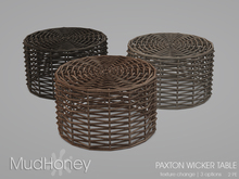 MudHoney Paxton Wicker Table