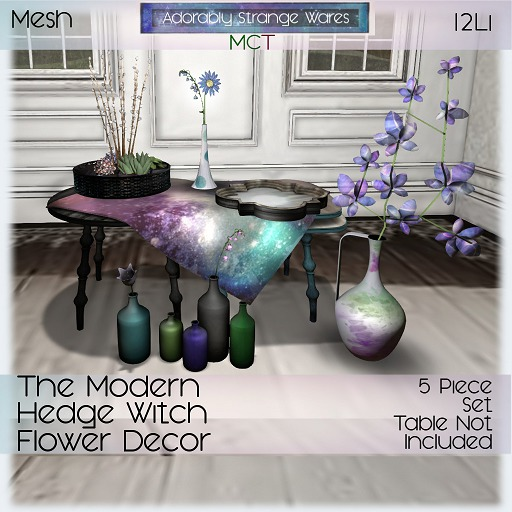 ~ASW~ The Modern Hedge Witch Flower Decor