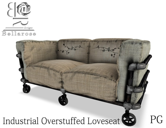 [BR] Industrial Overstuffed Sofa  PG