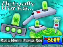 Rick and Morty Portal Gun - by 8exy