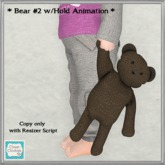 *CC* Bear #2 w/hold animation (WEAR to UNPACK)