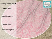 *CC* Emily Round Pink Rug  (WEAR to UNPACK)