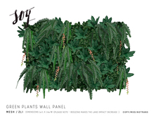 Soy. Green Plants Wall Panel [addme]
