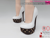 %50WINTERSALE Full Perm Studded White Super High Heels Slink High, Maitreya High, Ocacin Killer Heel, Belleza