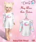 *Cherry Tot* Bebe/TDB Fitted Cute Unicorn Dress