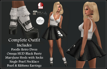 [DB] Retro 50's Poodle Costume Complete Outfit Maitreya, Slink