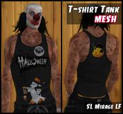 Mesh Mens T-shirt Tank Ghost. Halloween