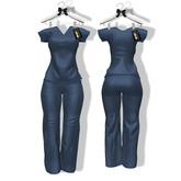 Harmonia Original Mesh - Scrubs Navy Maitreya Outfit
