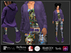 [DB] Purple Skull Chill Complete Outfit - Maitreya, Belleza, Slink, Ebody, Tonic, TMP, Omega