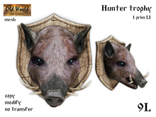 Hunter trophy - Boar - Old World - Rustic / Medieval Decorations