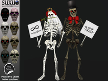 [SuXue Mesh] FATPACK Skeleton Statues Bride & Groom You and Me Marriage is Forever HUD included Resizable