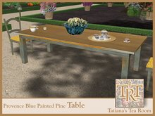TTR-Provence-Blue Painted Pine Table