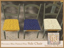 TTR-Provence-Blue Painted Pine Side Chair