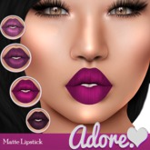 Adore<3 Matte Lipstick-Purple