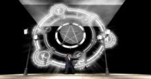Pentagram Moon Backdrop