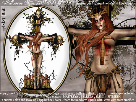 irrISIStible : HALLOWEEN STIGMATA OUTFIT + CROSS & ANIM + HAIR