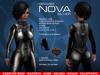 GRAVES Nova - Silver - Leather Latex Mesh Suit, Jumpsuit, Plugsuit, Catsuit, Cyberpunk: Maitreya, Belleza, Slink, Ocacin