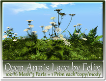 Queen Ann,s Lace by Felix 3 Parts=1 Prim Each copy-mody